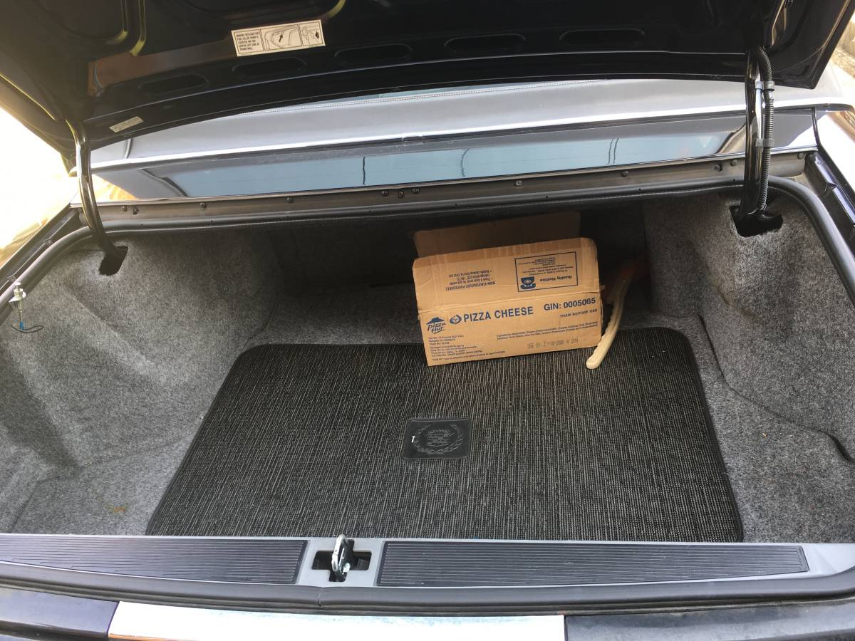 Cavernous trunk with plenty of space for pizza cheese