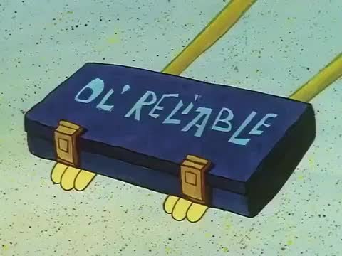 Even spongebob kept it in a case.