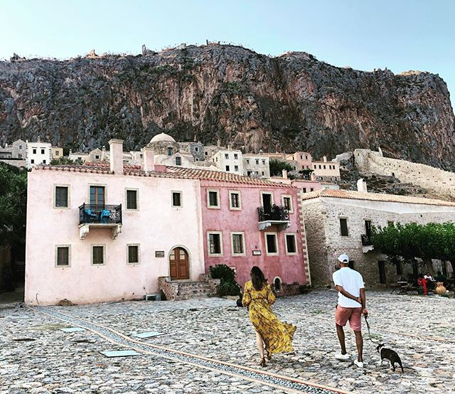 Colorful & stunning Monemvasia, Greece - What a vision of a place and time wonderfully spent for a wedding and connecting with two amazing friends. - #greece #monemvasia #wedding #friends #colorful #architecture #bostonterrier #ellada #greekwedding