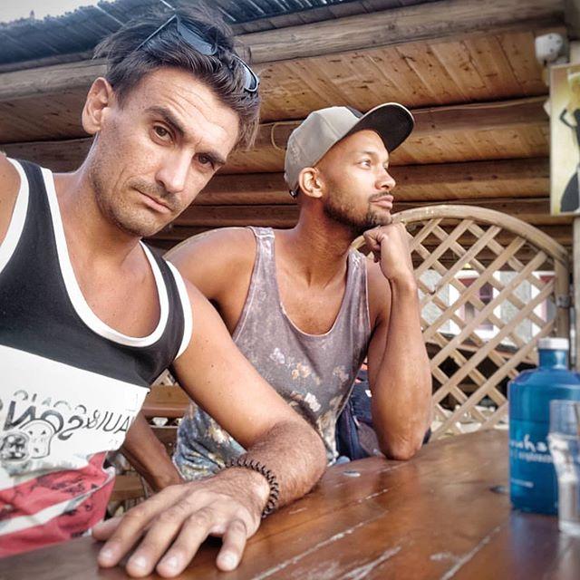 "Soaking up the vibes in this lovely bay! #stoic poses only #wheningreece  This how ""Thug life"" looks at Oitylo...! 😎😂⛱️🌄⛰️🏞️🌅 #cool #thuglife #oitylo #oitylo2019 #ibeachoitylο #limeni #teloneio #beachvolleyball #beachvolleyballplayers #kingofthecourt #event #ilovethisgame #coolness #friends #relax #feelingood #waitingmpaki #coffeetime #weekend #summerneverends"