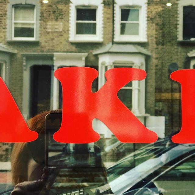 Sweet like Baklava... // Tasty 'K' spotted in Canonbury. • • • #weareagentk #London #behindthescenes #photography #photographer #londonphotographer #canonbury #creative #industrial #londonlife #bestoftheday #creativespaces #freelance #socialmedia #womenintech #womenindigital #inspiration #design #typography #lettering #type #font #abmlifeiscolourful #red  #communityfirst #reflection