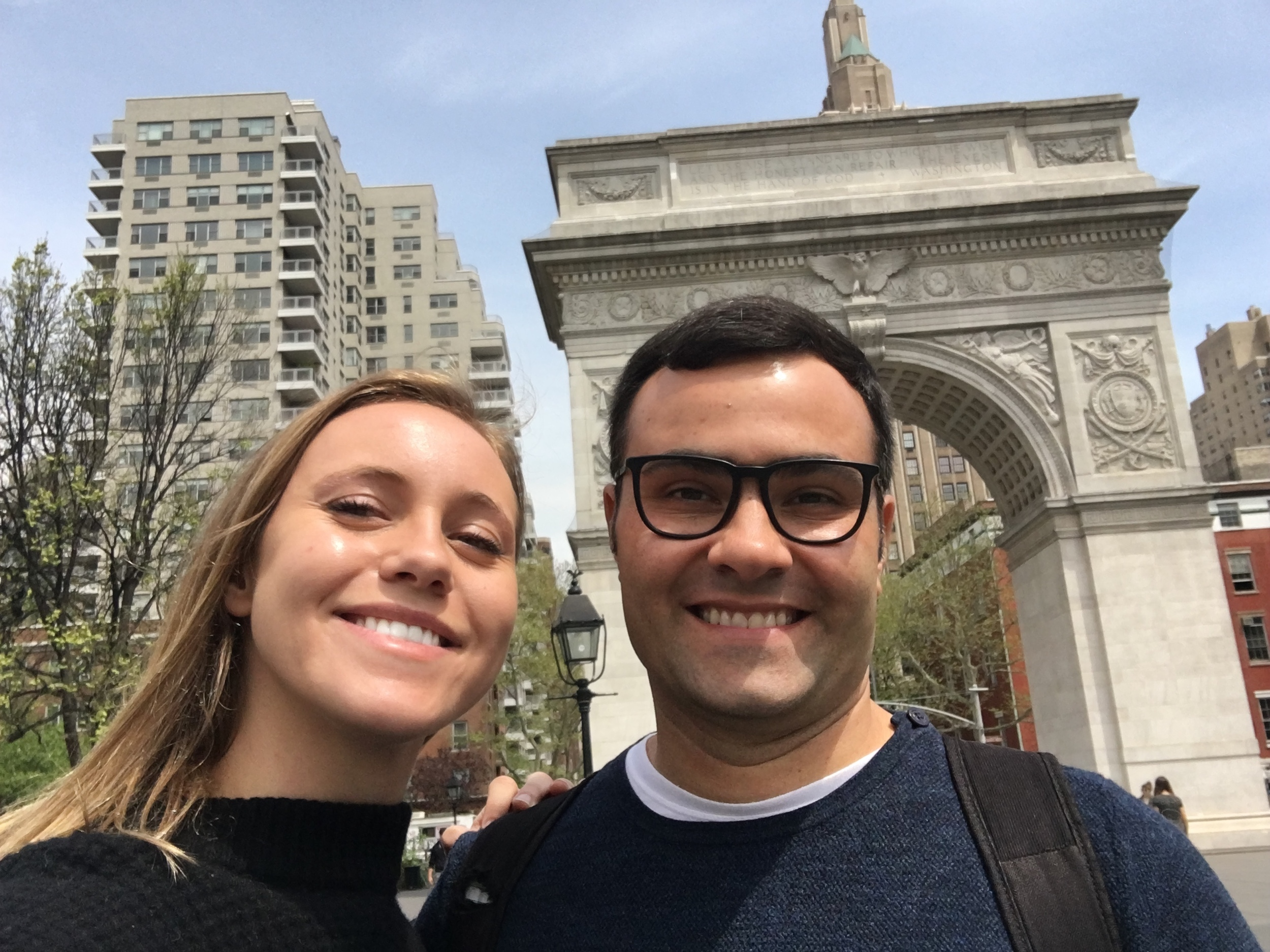 College Advisor Julia accompanied Murilo on his journey around NYU!