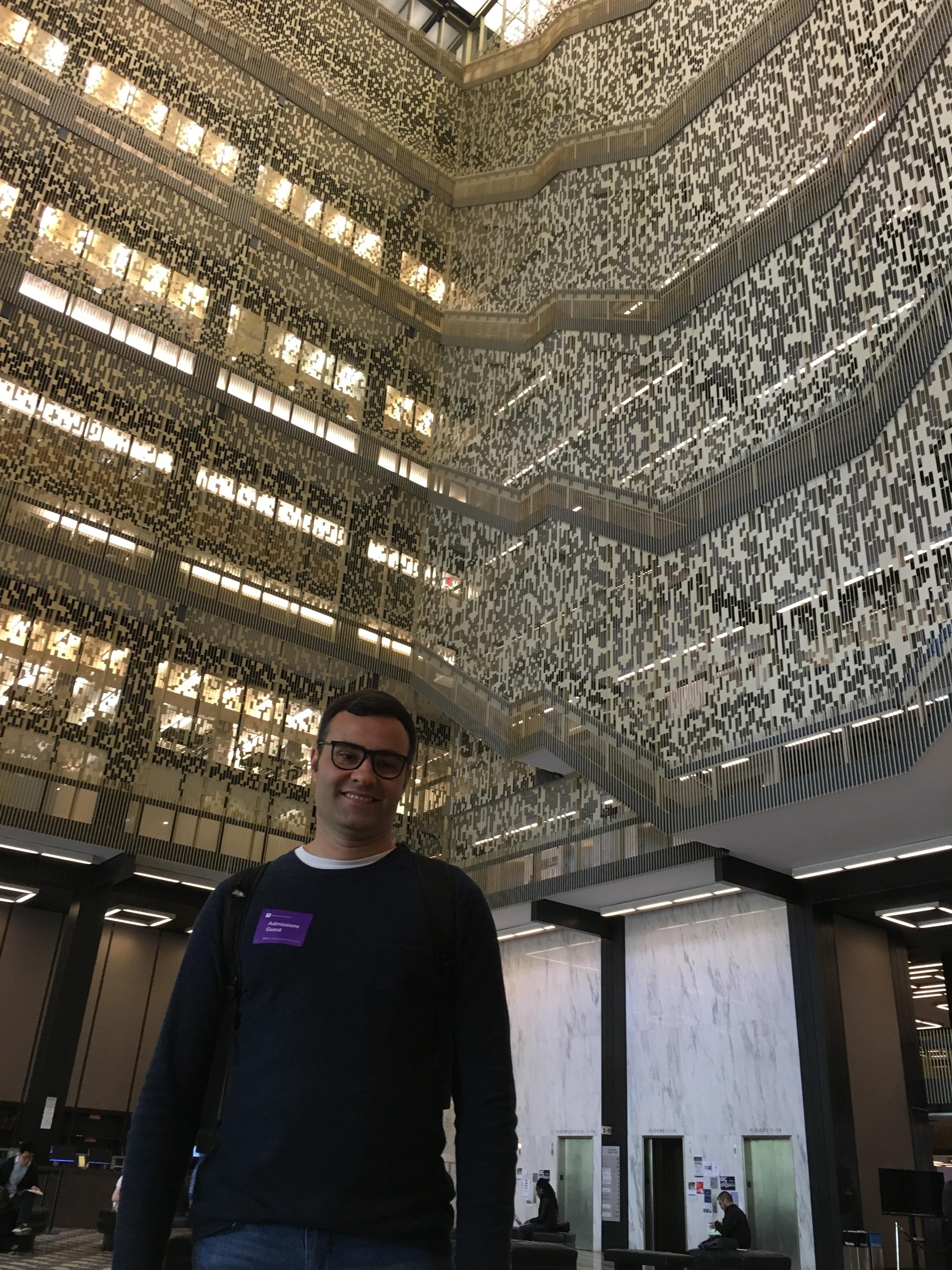 NYU's main Library, Bobst.