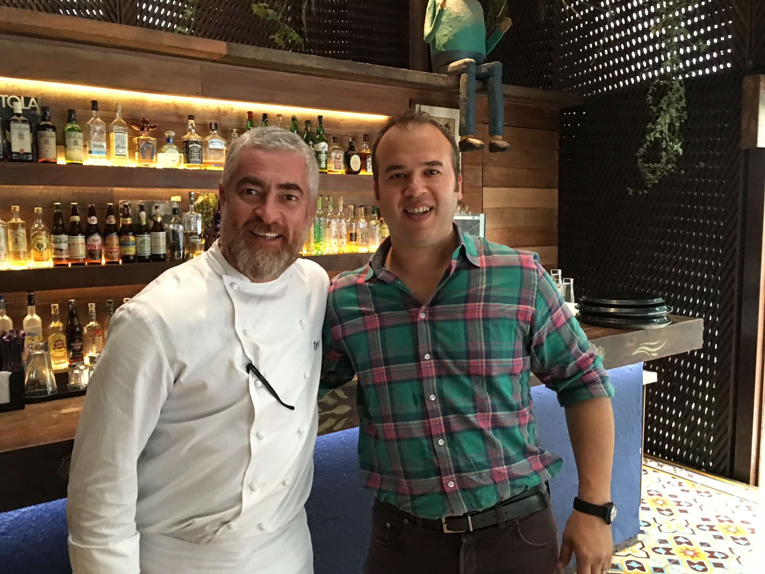 Jesse with world-renowned chef, Alex Atala
