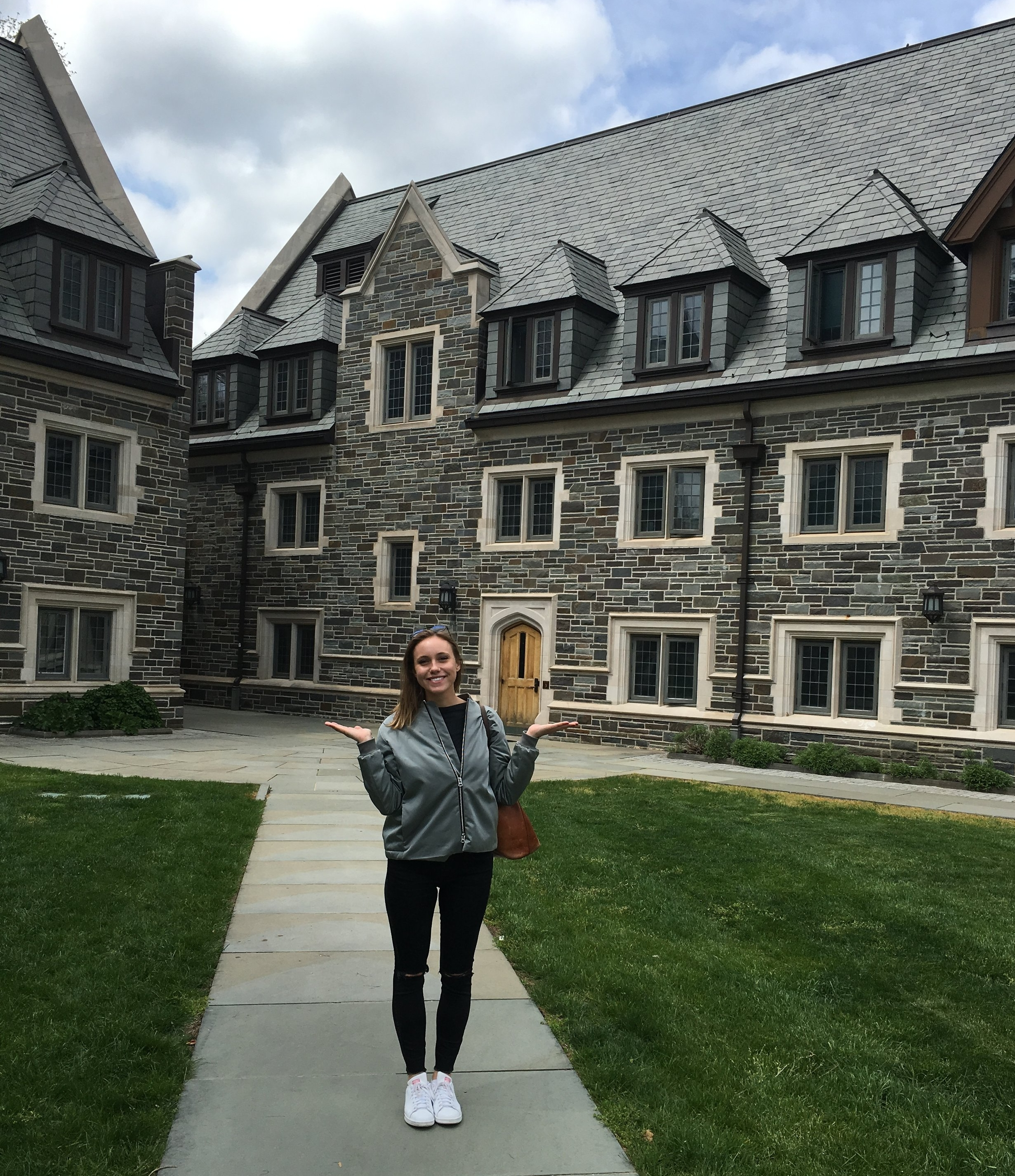 In front of my Freshman and Sophomore year dorm in Whitman Residential College, Princeton