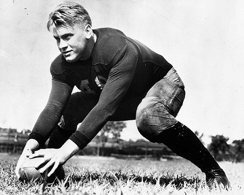 Gerald Ford playing center for UMich! ( source )