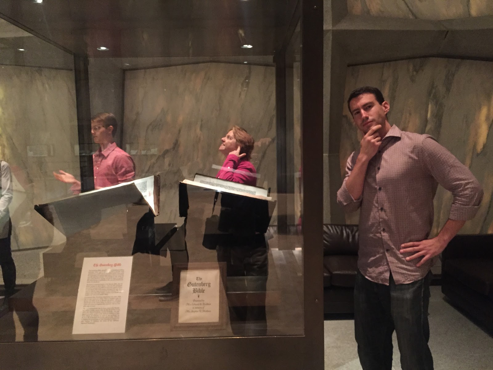 Posing with the Gutenberg Bible