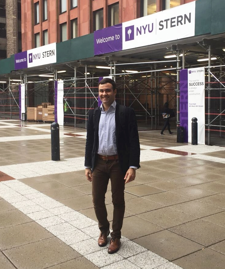 Murilo demonstrates his interest in NYU Stern!