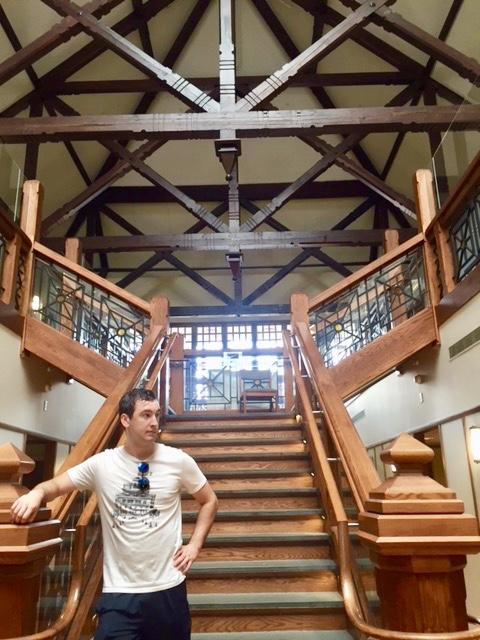 Inside one of the dorm halls