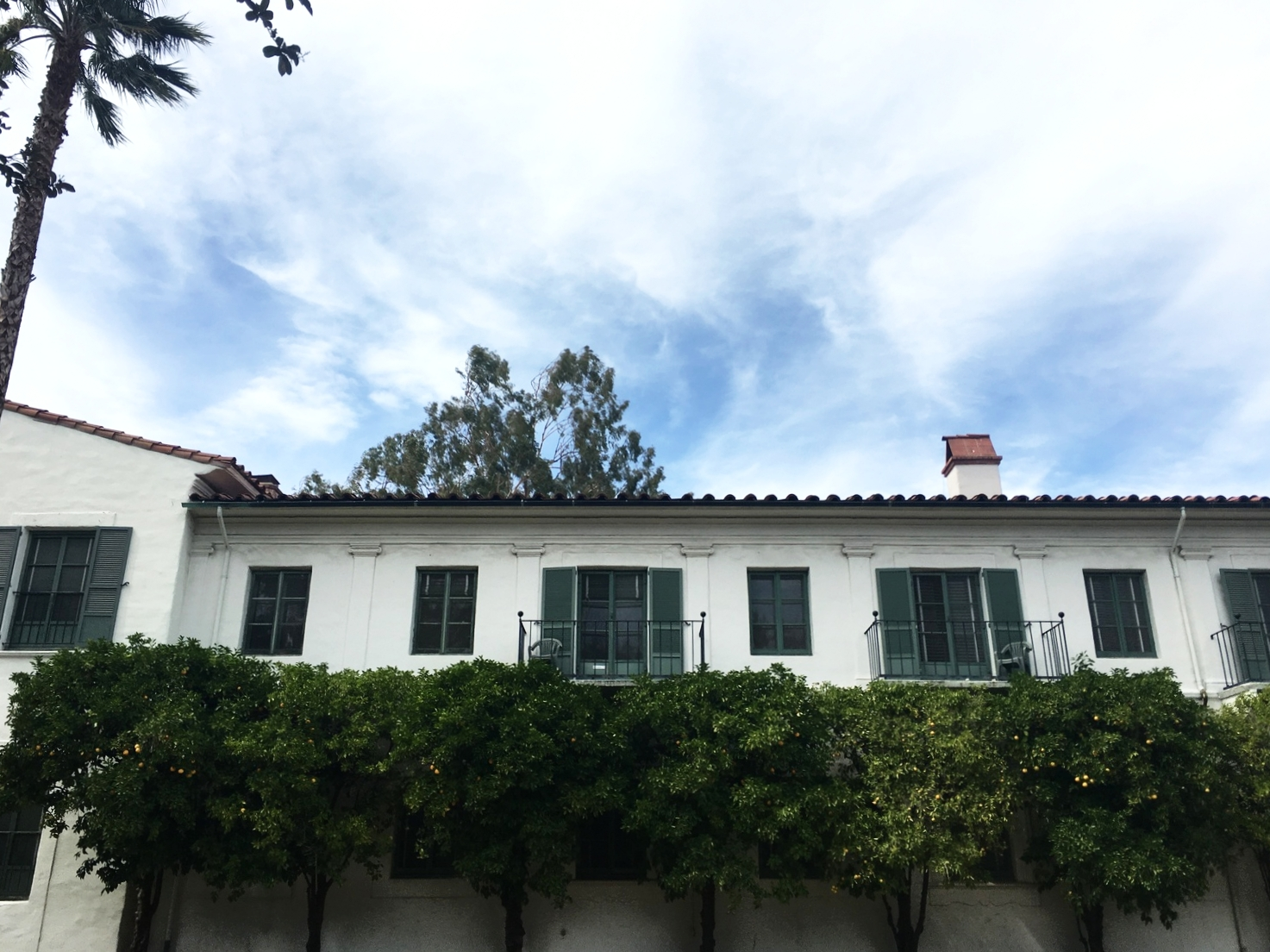 Resident balconies at Scripps College
