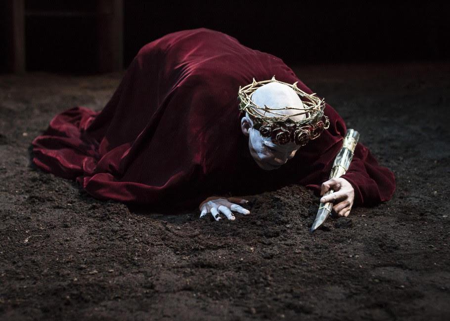 Photo credit: Marty Rea as Richard II in Druid Theatre Company's production of  Richard II.
