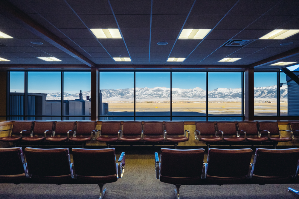 Even the airport has a great view