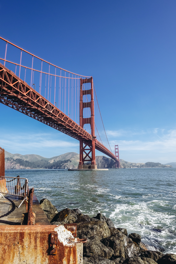 The Golden Gate Bridge from Fort Point