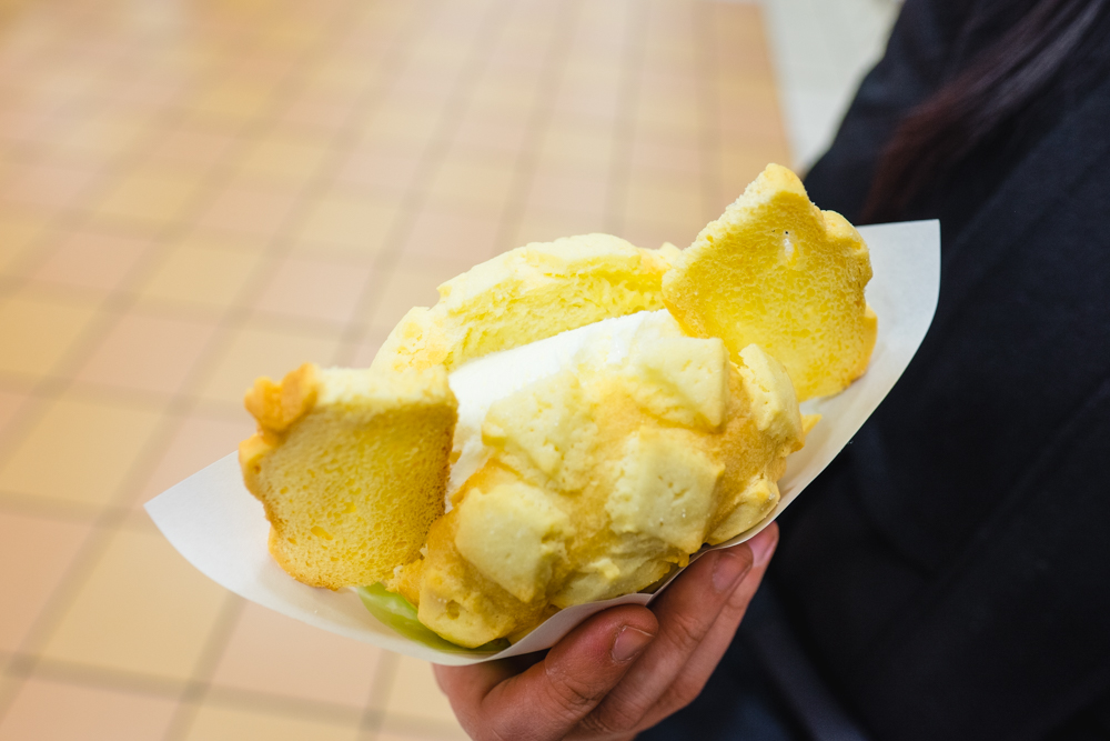 Melon Pan with Ice Cream