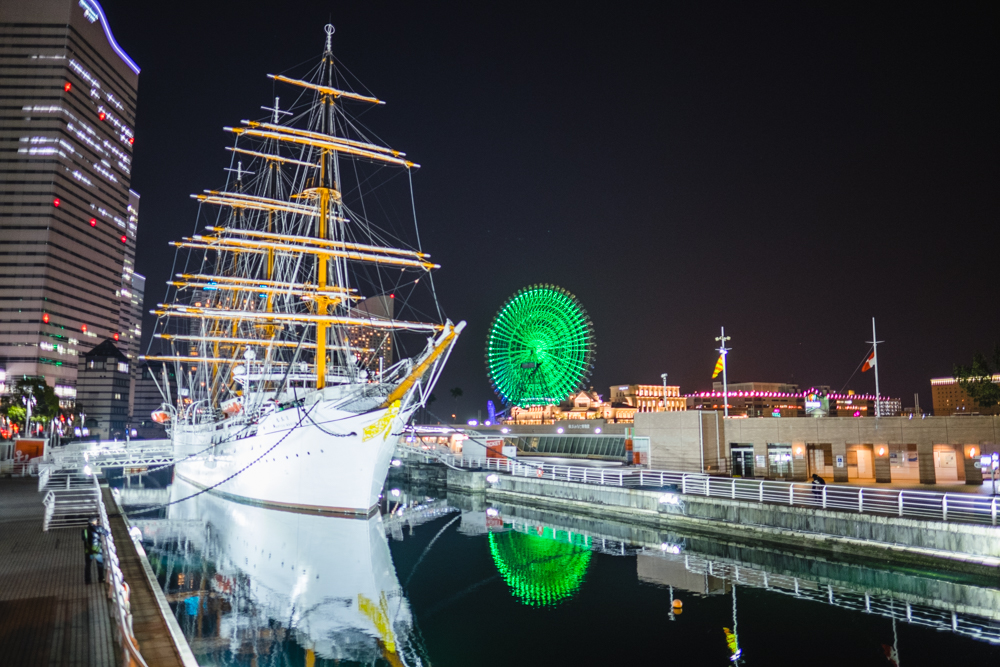Nippon Maru at night