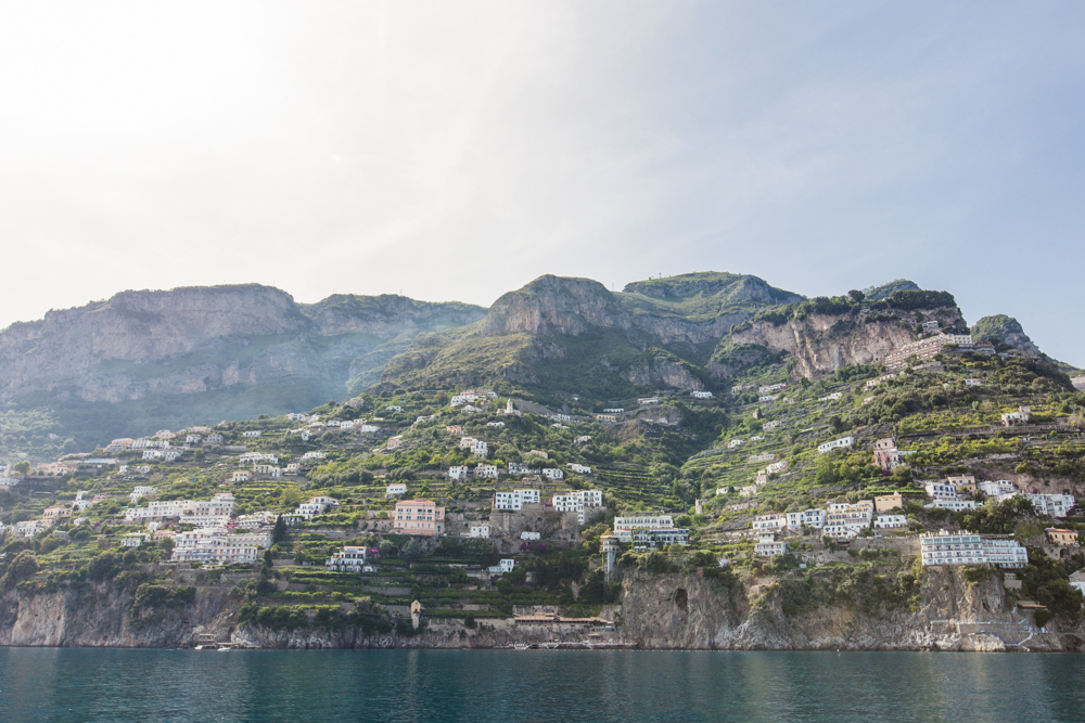 Several smaller towns line the coast between Amalfi and Positano.