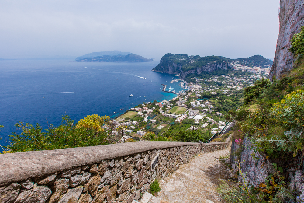 The Scala Fenicia (Phoenician steps); aka 800 steps to Capri