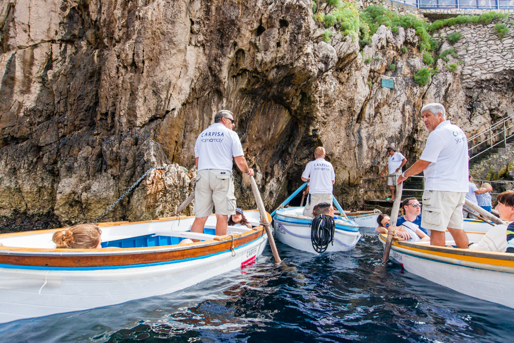 You can see that the row boats are only large enough for 2-4 people.  Everyone in the boat has to be able to lie down...
