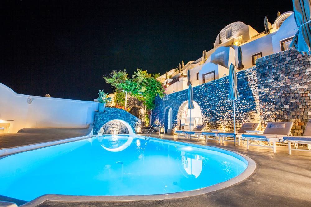 The pool at Atrina