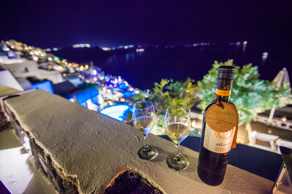 Assyrtiko is a white wine grape that is indigenous to the island of Santorini.  This became a favorite of ours during our stay in Santorini.  Maybe it was the nostalgia of being on this balcony with my favorite person that made it so special.  One thing's for sure, we found this exact bottle once we arrived back home and will be saving it for our one-year anniversary.  Maybe the view won't be as great, maybe the taste won't even be as appealing, but the memories of our first year together will be reason to celebrate.