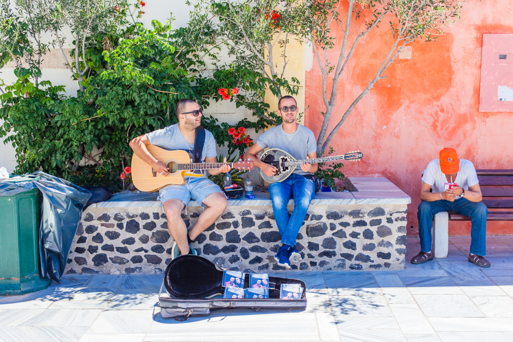 These musicians were really good and we purchased their CD. They were located in the square with the Church of Panagia Platsani.