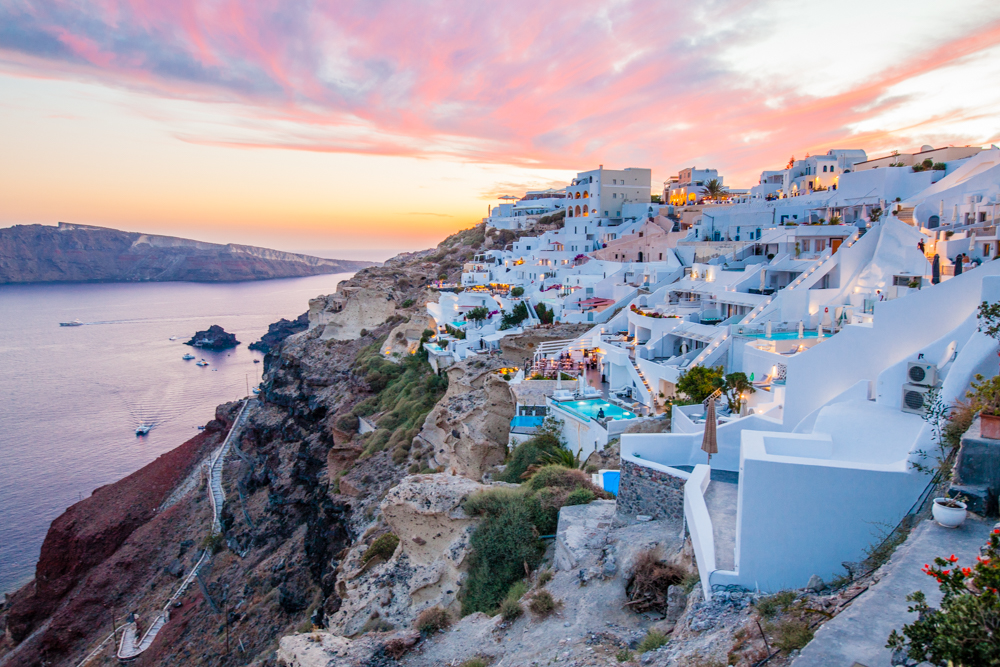 One last Santorini sunset. It was the best one of our trip.