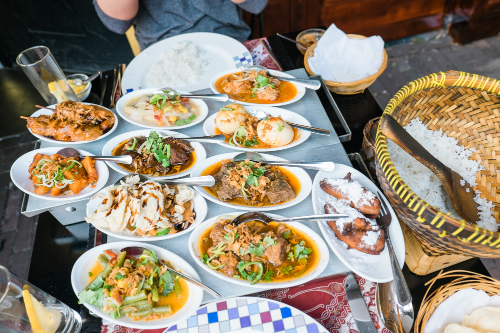 """We ate outside and ordered the """"rice table,"""" which was 12 small dishes. All were very delicious and full of flavor!"""