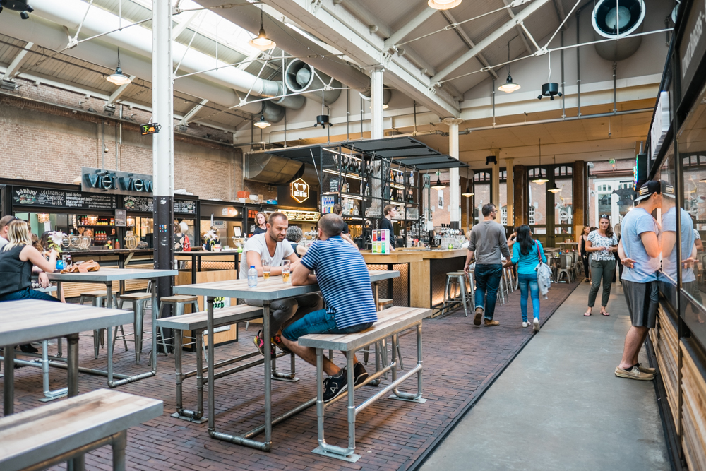 De Hallen also has an indoor food hall with a variety of food stands; both savory and sweet.