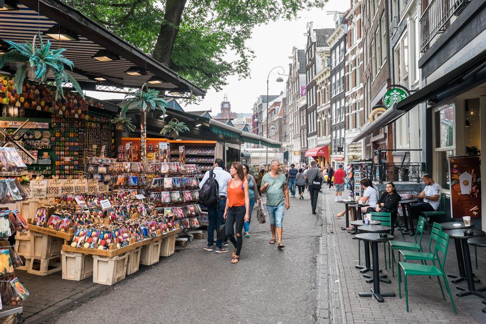 Bloemenmarkt (founded in 1862); the world's only floating flower market.