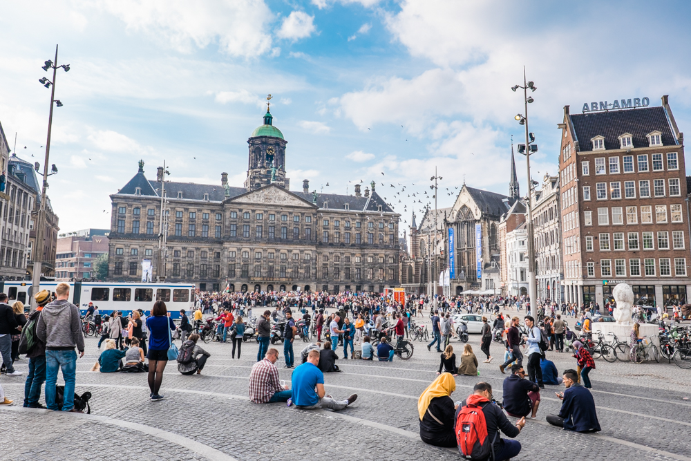 Royal Palace of Amsterdam, built in the 17th century