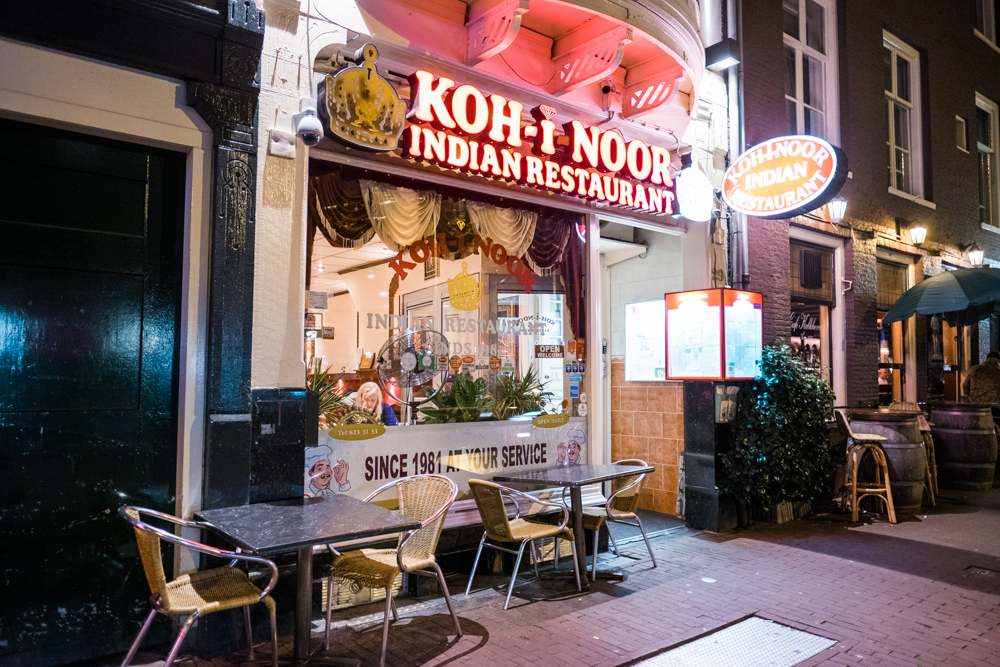 Koh-I-Noor is located down the street from the Anne Frank Museum