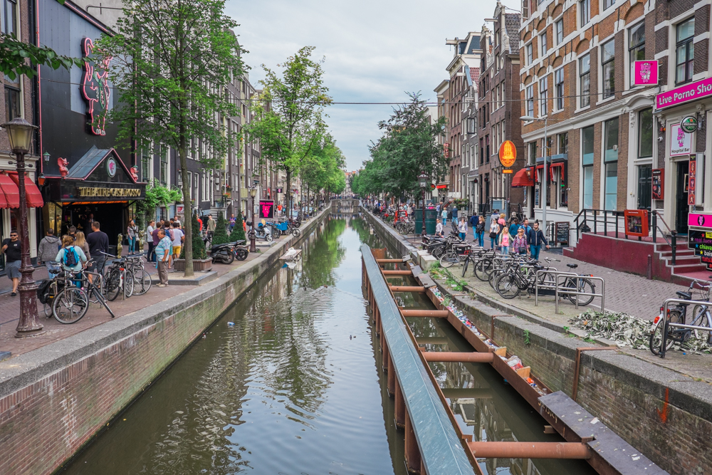 The Red Light District (a somewhat innocent and slightly charming place during the day, different story at night)