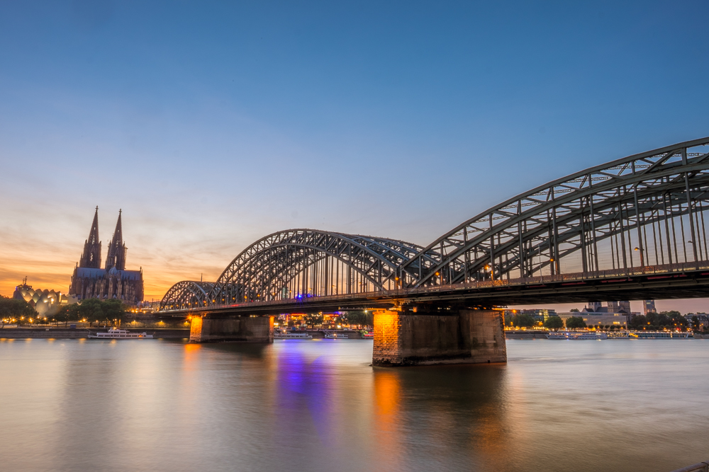 Hohenzollern Bridge cologne germany rhine river