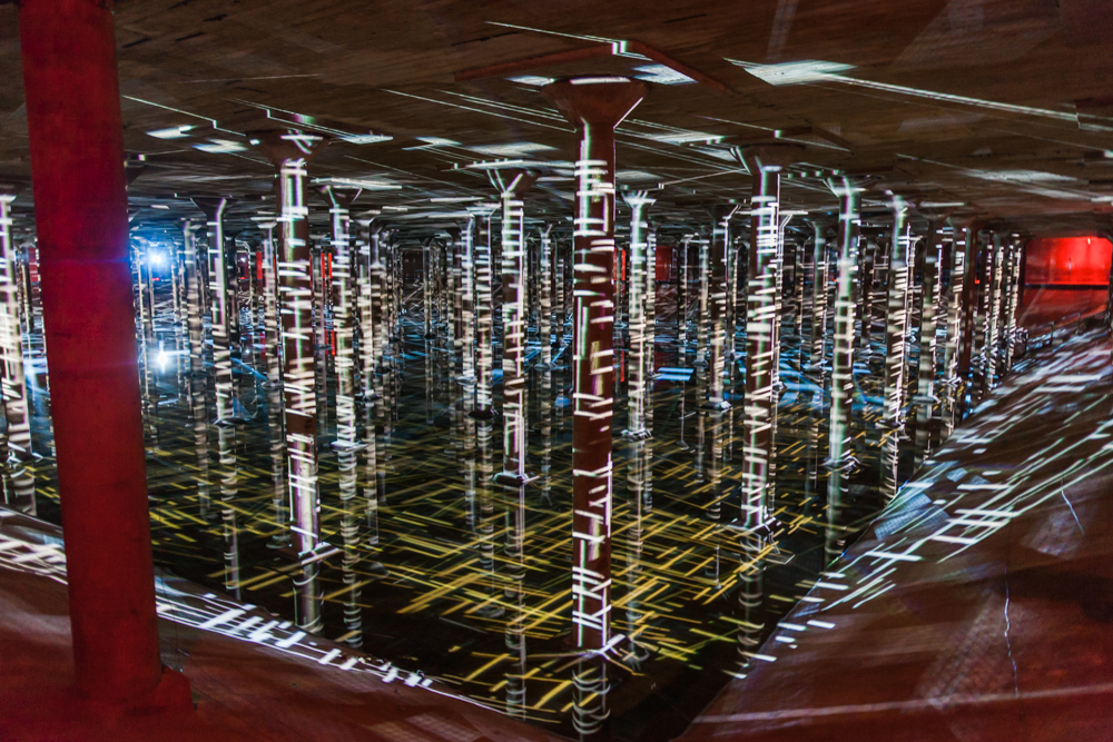 magdalena fernandez rain at the houston cistern