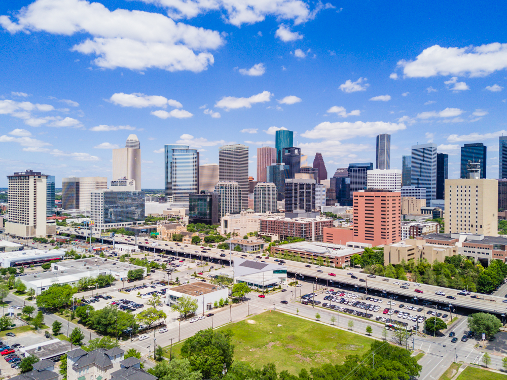 houston downtown drone