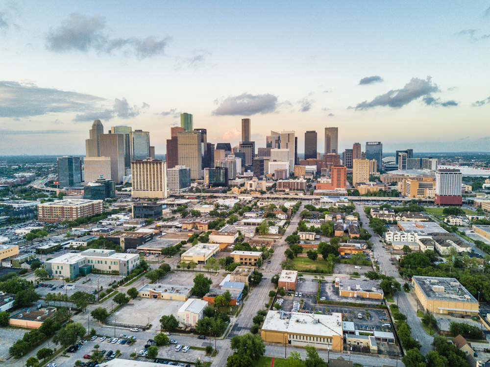 downtown houston drone dji mavic pro