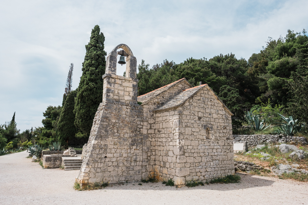Situated between the dense forest of pine trees and the Dalmatian Coast, is a small church on Marjan Hill.