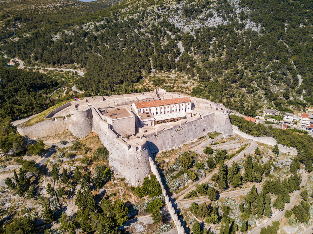 Bird's-eye view of Hvar Fort