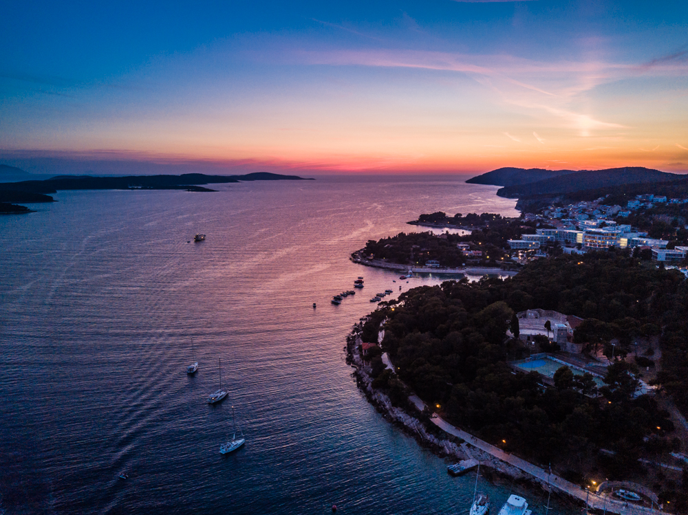 Sunset on Hvar