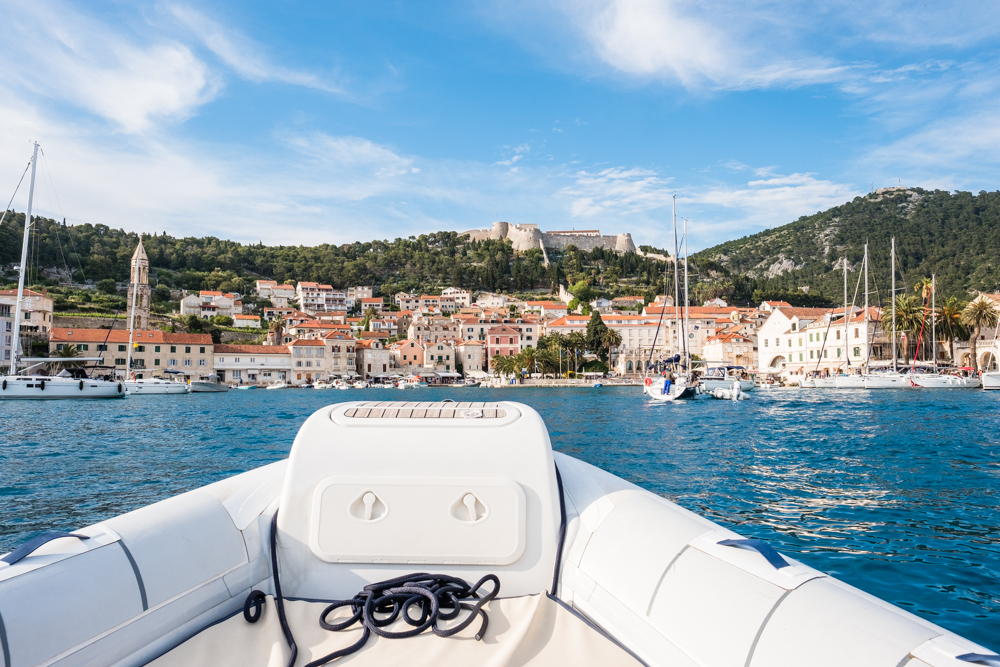 Just a short 15 minute boat ride from Palmizana and we were back on Hvar.