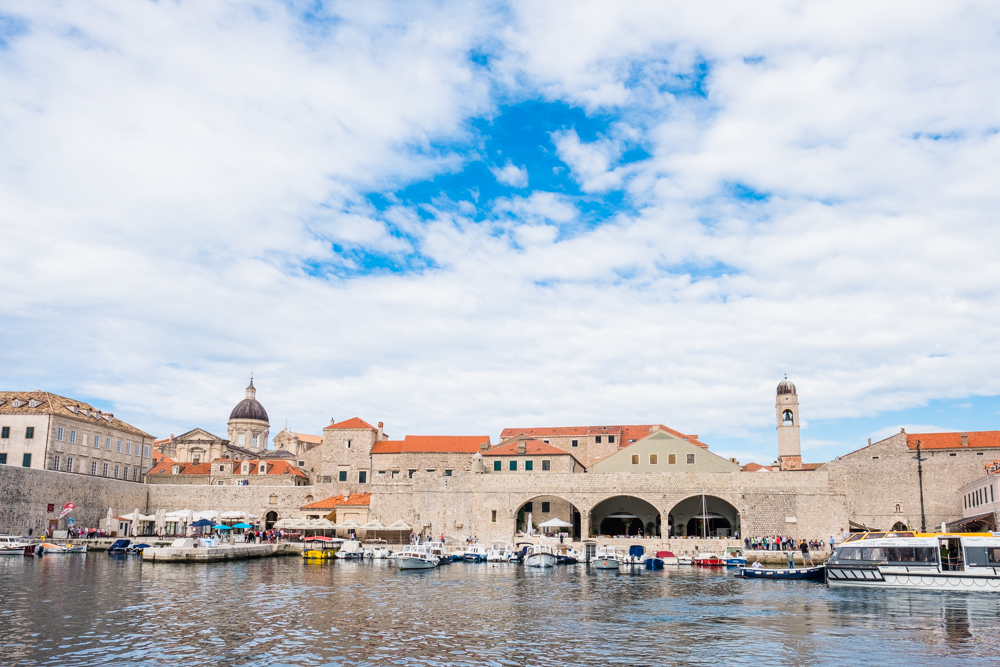 Leaving the harbour of Old Town Dubrovnik, on our way to Lokrum