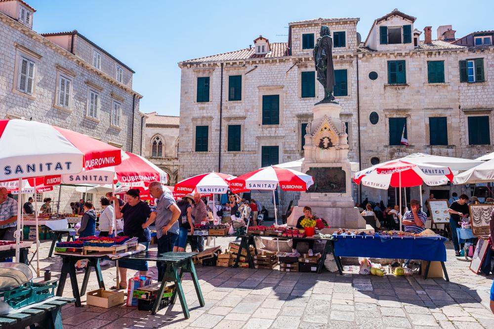 old town market dubrovnik croatia