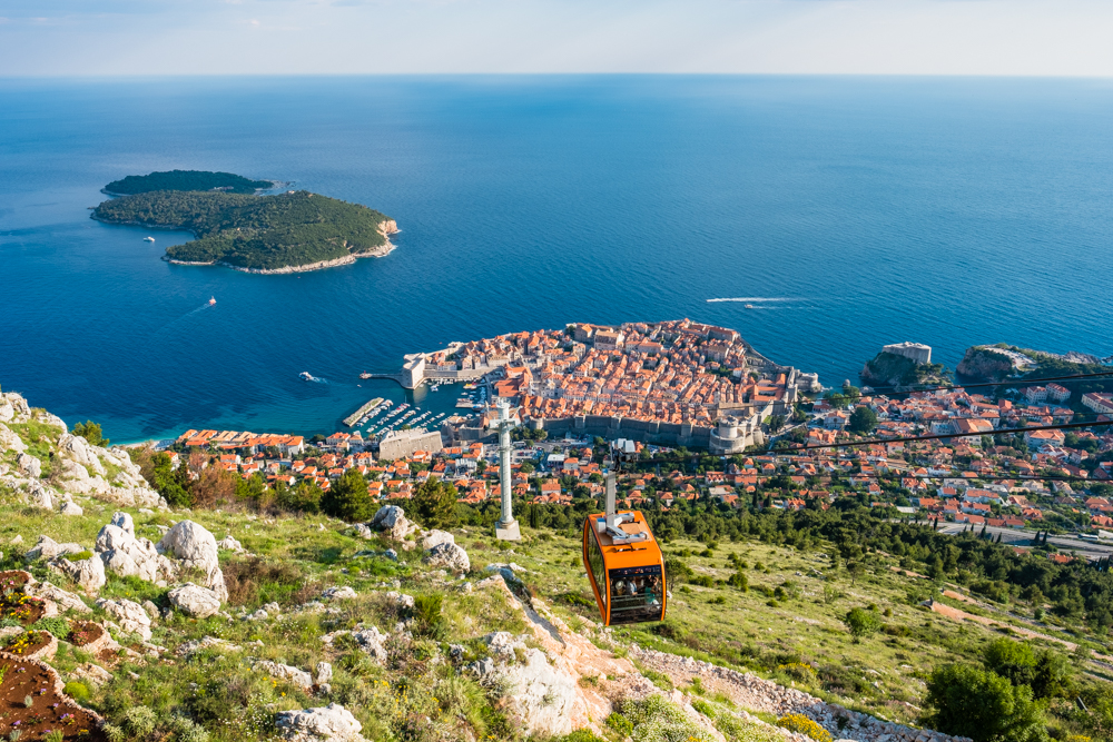 old town dubrovnik croatia cable car