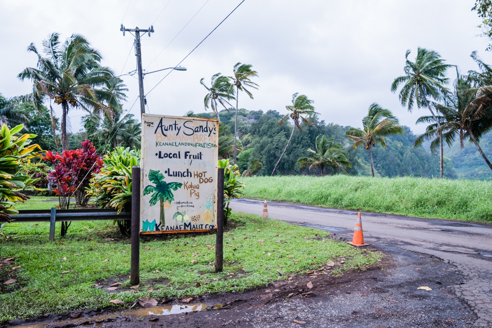 Aunt Sandy's can be found at the same exit for Ke'anae Lookout, well-worth the stop.