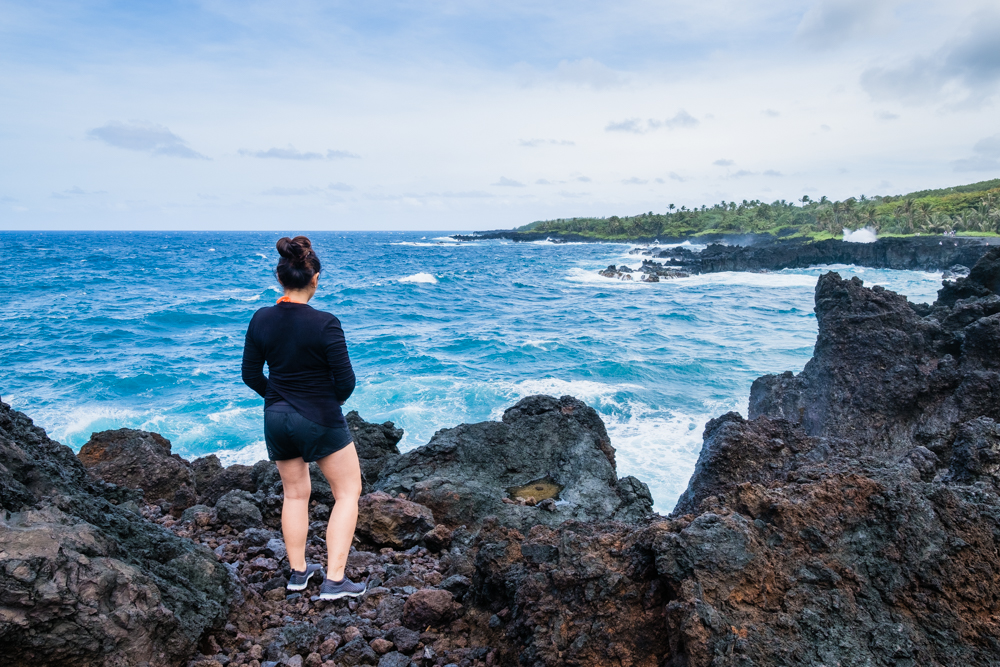 blowhole waianapanapa maui hawaii