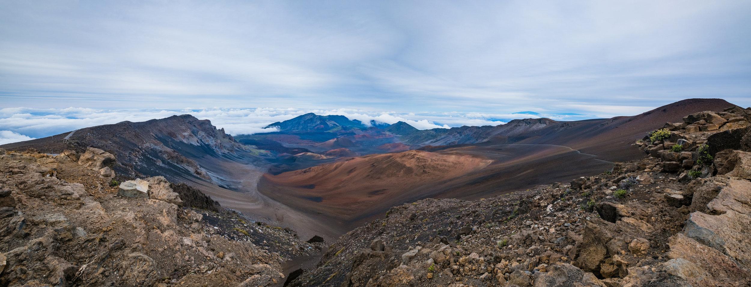 haleakala crater maui hawaii panoramic