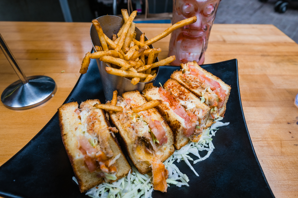 Lobster and Crab Grilled Cheese Sandwich