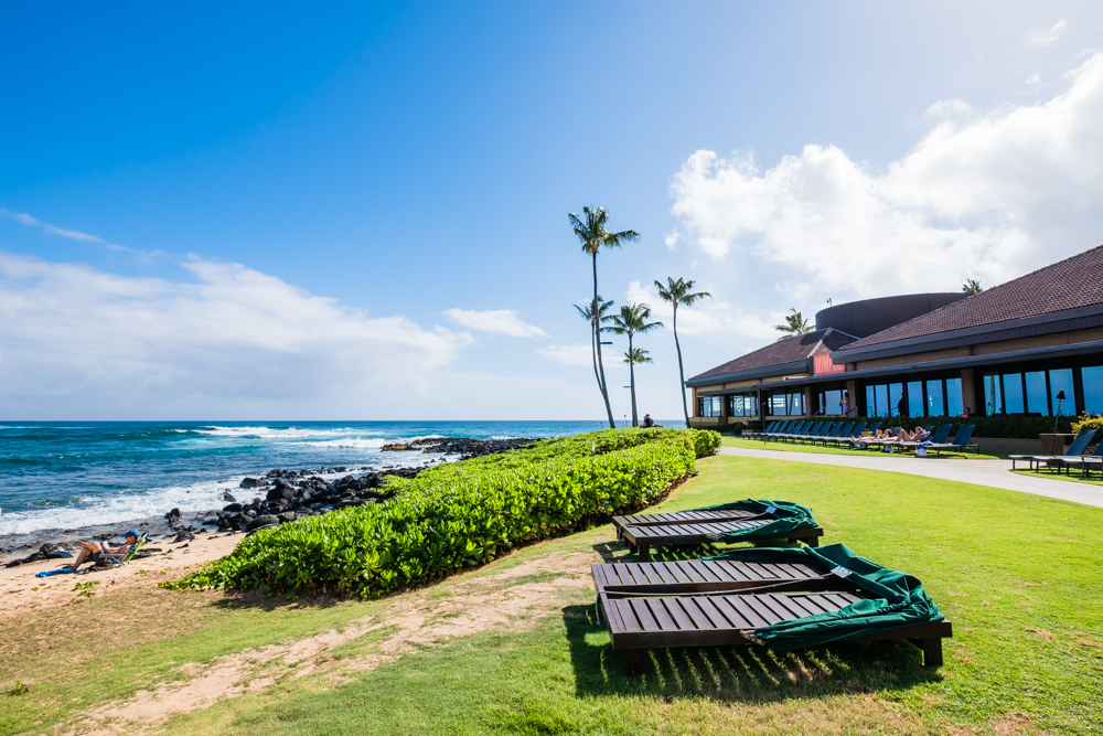 Poipu Beach, which is located right off of the Sheraton Kauai