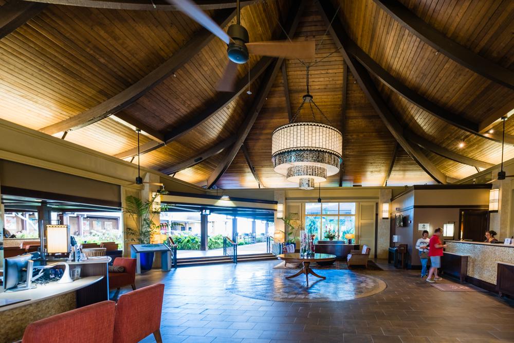 Lobby of the Sheraton Kauai