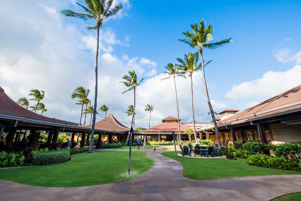 Courtyard of the Sheraton Kauai